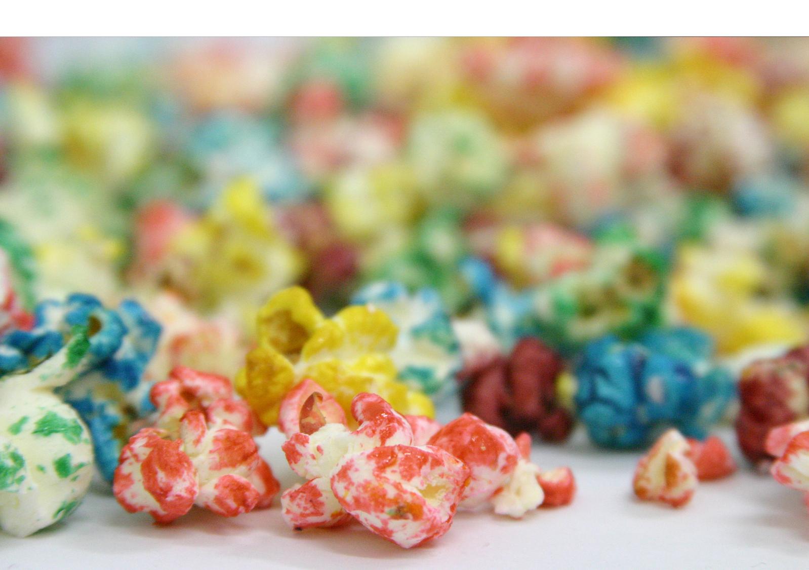 Цветной попкорн